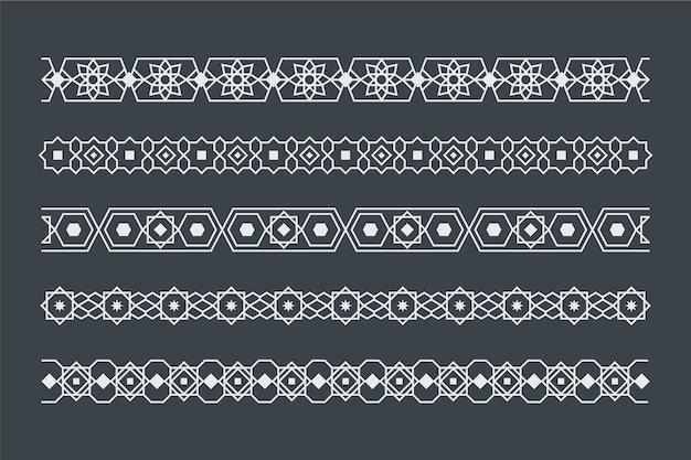 Collection d'en-tête monochrome