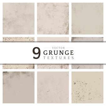 Collection de texture en détresse grunge beige