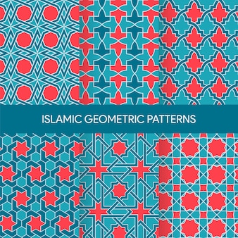 Collection de textures de modèles sans couture islamiques vibrants