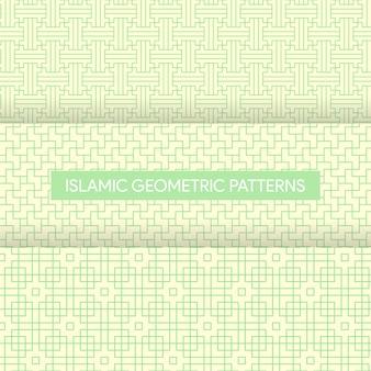 Collection de textures de motifs géométriques islamiques sans soudure