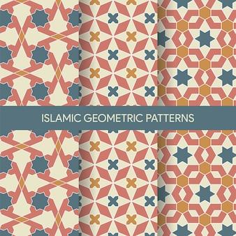 Collection de textures de motifs islamiques géométriques sans soudure