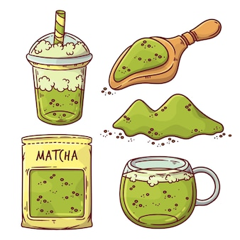 Collection de thé matcha