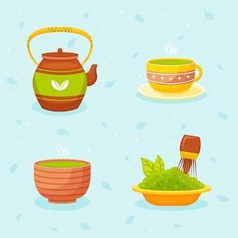Collection de thé matcha