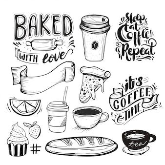 Collection de thème de nourriture et de boisson