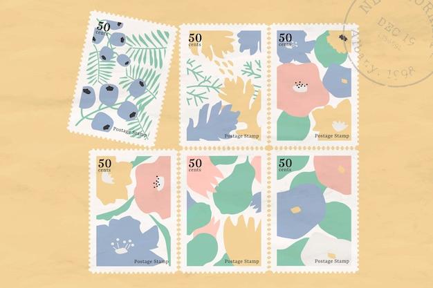 Collection de timbres botaniques