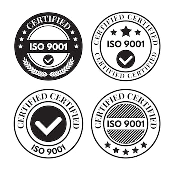 Collection de timbres de certification iso