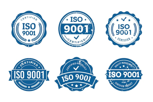 Collection de timbres de certification iso