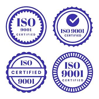 Collection De Timbres De Certification Iso Vecteur gratuit