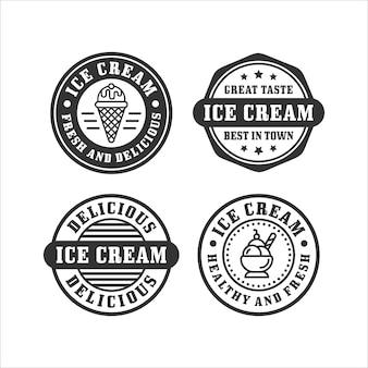 Collection de timbres de crème glacée