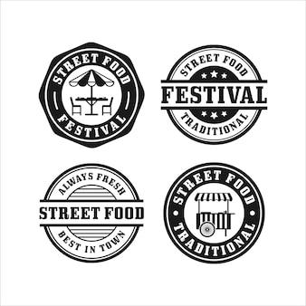 Collection de timbres du festival de l'alimentation de rue