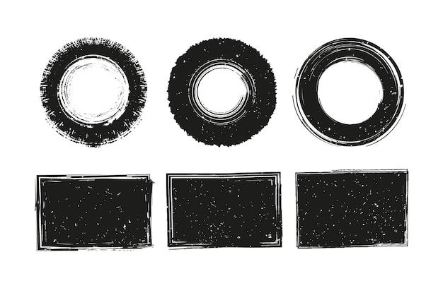Collection de timbres grunge noir