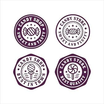 Collection de timbres de magasin de bonbons