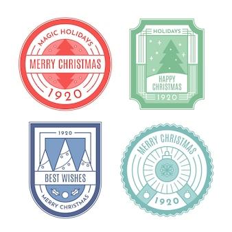 Collection de timbres de noël vintage