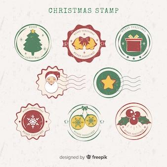 Collection de timbres de noël