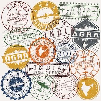 Collection de timbres de passeport indiens