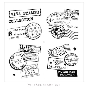 Collection de timbres-poste anciens
