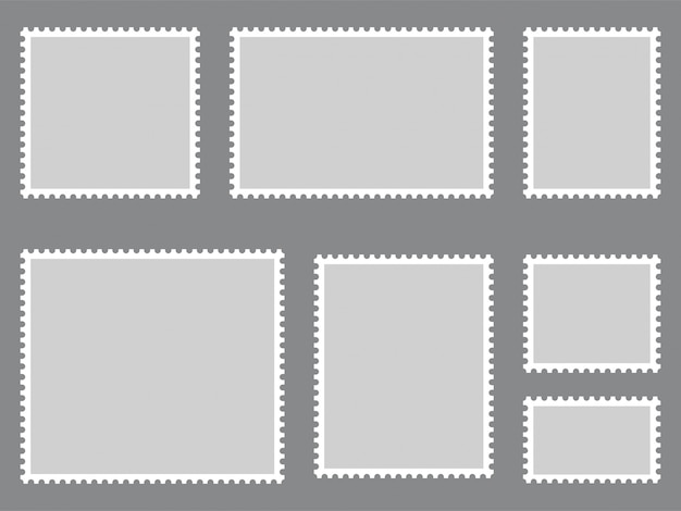 Collection de timbres-poste. vecteur