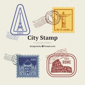 Collection de timbres de la ville