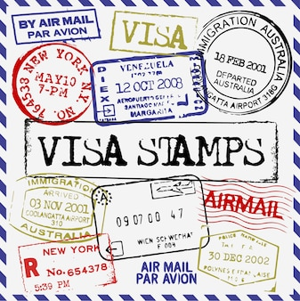 Collection de timbres de visa