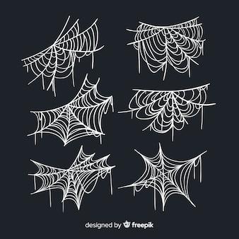 Collection de toile d'araignée dessiné à la main