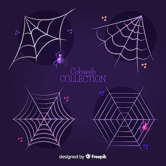 Collection de toiles d'araignées d'halloween