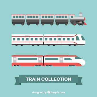 Collection de train moderne