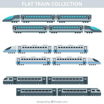 Collection de train plat