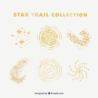 Collection de traînées d'étoiles