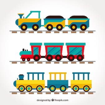 Collection de trains d'enfants