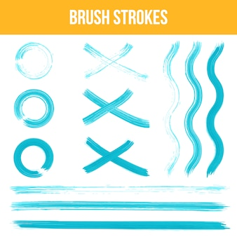 Collection de traits de brosse