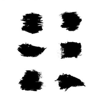 Collection de traits de pinceau grunge
