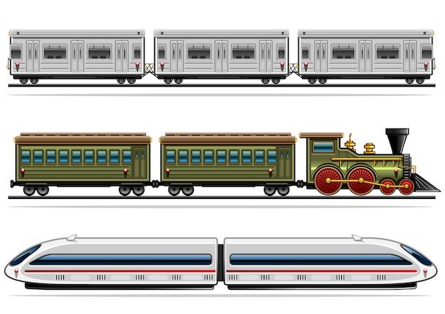 Collection de transport ferroviaire
