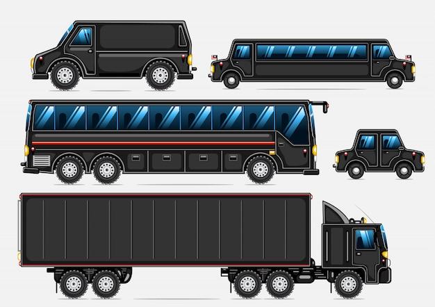 Collection de transport noir