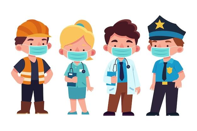 Collection de travailleurs essentiels pour enfants