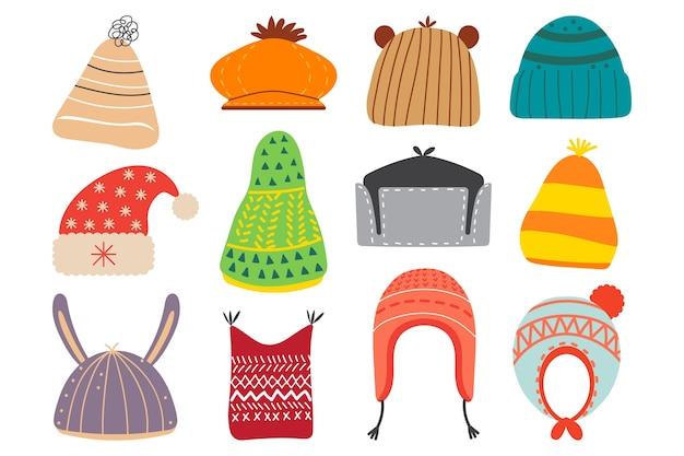 Collection de tricot de coton de laine colorée
