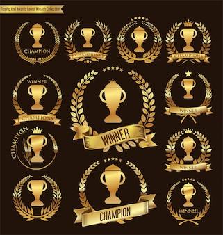 Collection de trophées et de trophées