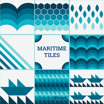 Collection de tuiles maritimes