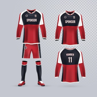 Collection d'uniformes de football