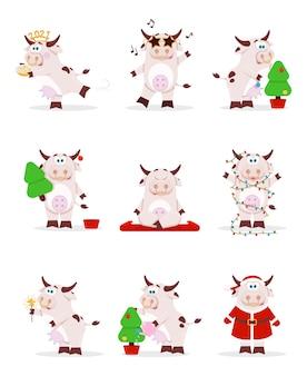 Collection de vache de noël