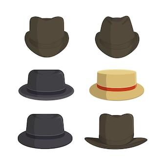 Collection de vecteur de chapeau vintage