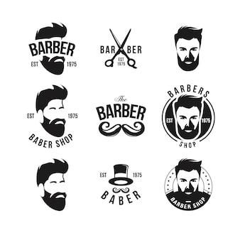 Collection vecteur salon de coiffure