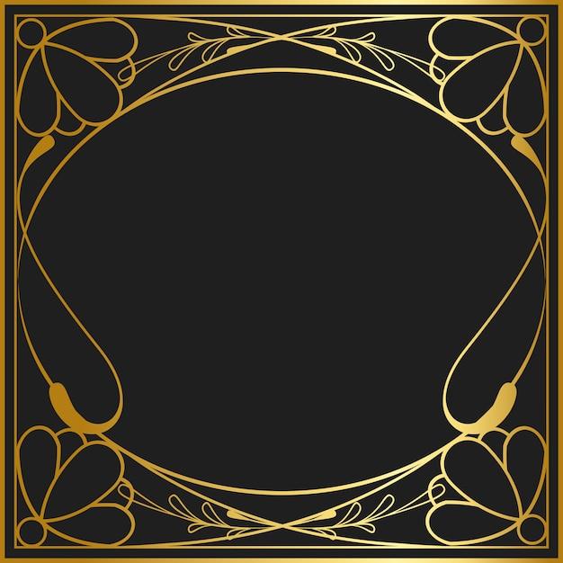 Collection de vecteurs de badge art nouveau collection