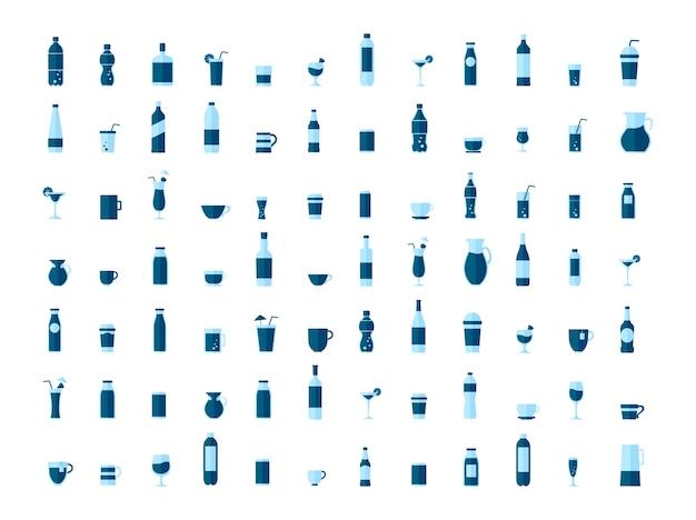 Collection de vecteurs de boissons