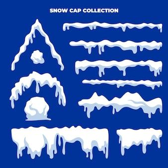 Collection de vecteurs de bonnet de neige