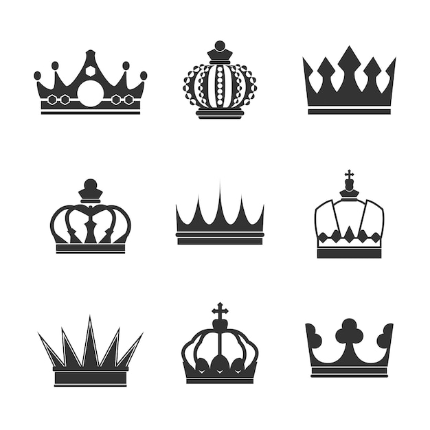 Collection de vecteurs de la couronne royale