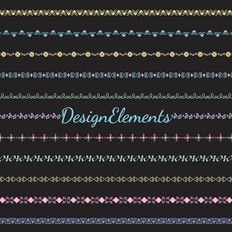 Collection de vecteurs d'éléments de conception de diviseur