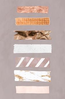 Collection de vecteurs de ruban washi