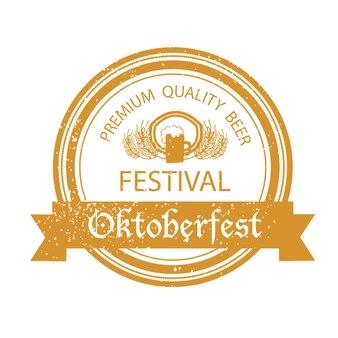 Collection vectorielle de modèles de logos dessinés à la main oktoberfest. logotypes des festivals allemands. badges et icônes vintage. icônes modernes esquissées à la main. étiquettes de l'oktoberfest.