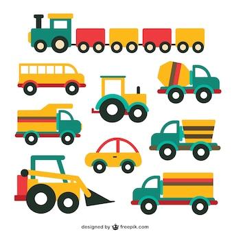 Collection de véhicules mignon