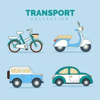 Collection de véhicules de transport